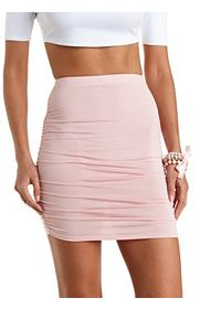 Ruched Bodycon Mini Skirt