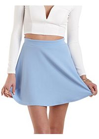 Textured Knit Skater Skirt