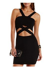 Crisscross Cut-Out Bodycon Dress