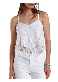 Layered Floral Lace Crop Top