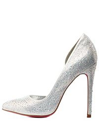 Rhinestone D'Orsay Pointed Toe Pumps