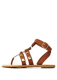 Bamboo Studded Thong Gladiator Sandals