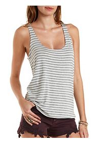 Scoop Neck Striped Tank Top