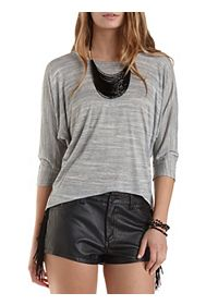 Crisscross Back High-Low Top