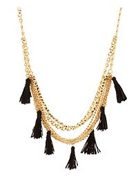 Layered Chain & Tassel Necklace