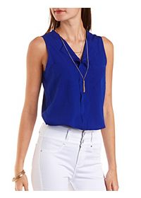 Double Pocket Sleeveless Crop Top