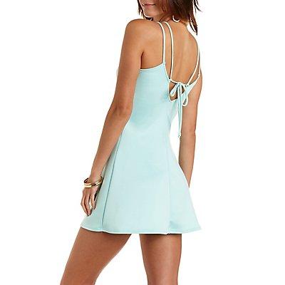 Strappy Tie-Back Skater Dress