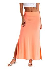 Neon Double Slit Maxi Skirt