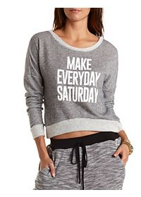 Saturday Graphic Boxy Sweatshirt