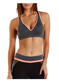 Color Block Push-Up Sports Bra