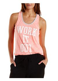 Work it Out Graphic Tank Top