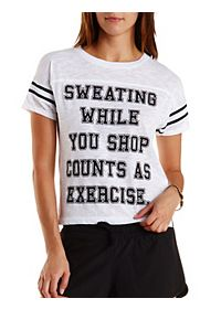Exercise Graphic Varsity Tee