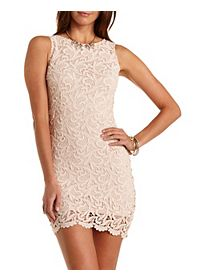 Sleeveless Crochet Bodycon Dress
