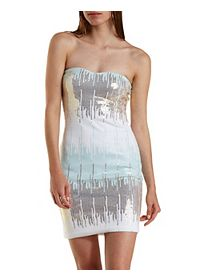 Ombre Sequin Bodycon Dress