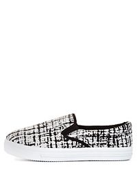 Abstract Print Slip-On Sneakers