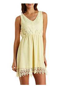 Lace & Chiffon Skater Dress