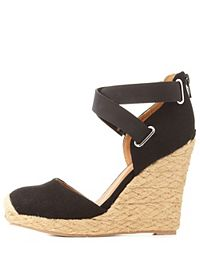 Two-Piece Platform Espadrille Wedges