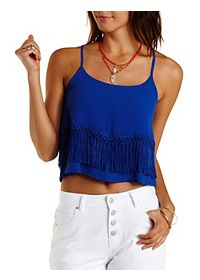Layered Fringe Crop Top