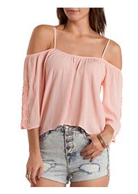 Crochet Cold Shoulder Peasant Top