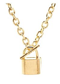 Chain Lock Charm Necklace