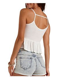 Strappy Ruffle Tank Top