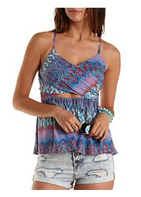 Strappy Crossover Cut-Out Tank Top