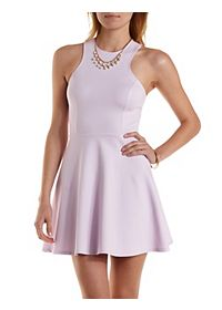 Cross-Back Racer Front Skater Dress