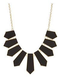 Faux Leather Spike Collar Necklace