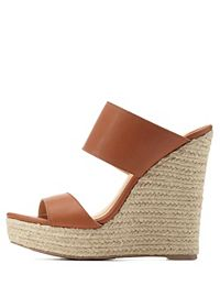 Two-Band Slide Wedge Sandals