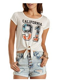 California 91 Knotted Graphic Tee