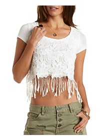 Chunky Lace Crochet Crop Top
