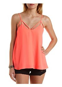 Neon Caged Swing Tank Top