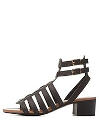 Strappy Low Heel Gladiator Sandals