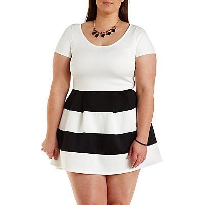 Color Block Dresses Plus Size Plus Size Color Block Striped