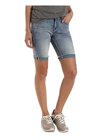 "Refuge ""Bermuda"" Cuffed Denim Shorts"