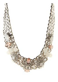 Chain & Crystal Statement Necklace