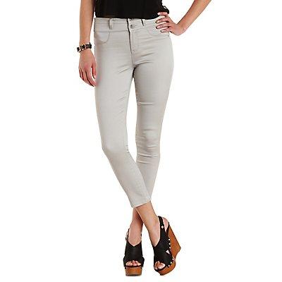 """Refuge """"Hi-Waist Super Skinny"""" Cropped Jeans"""