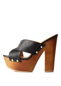 X-Band Wooden Platform Slide Heels