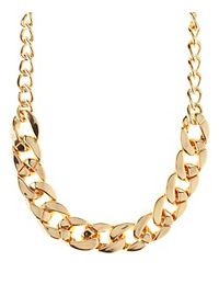 Curb Link Chain Collar Necklace