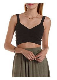Crossover Wrap Crop Top