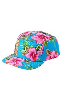 Tropical Print Five Panel Hat