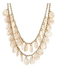 Two-Tiered Faceted Bead Bib Necklace