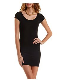 Cap Sleeve Cotton Bodycon Dress