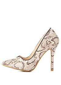 Python Sweetheart Pointed Toe Pumps