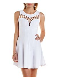 Caged Cut-Out Skater Dress