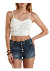 Crochet Bustier Crop Top