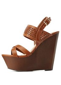 Bamboo Perforated Wooden Platform Wedges