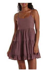Strappy Open Back Babydoll Dress