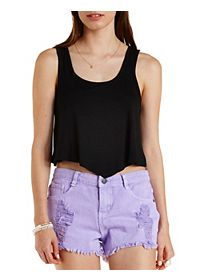 Pointed Hem Cropped Tank Top