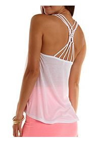 Caged Macrame Racerback Tank Top